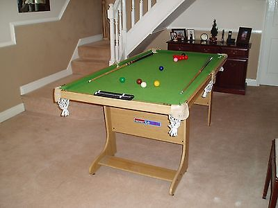 BCE 6ft vertical folding snooker/pool table