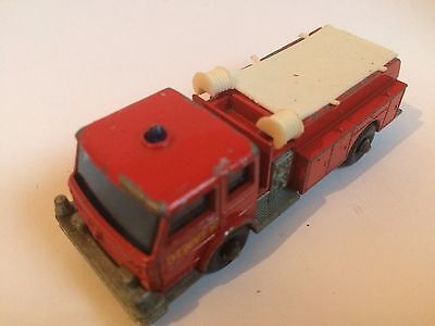 Fire Pumper Truck Original Vintage Old Lesney Matchbox Diecast Toy Car Wn