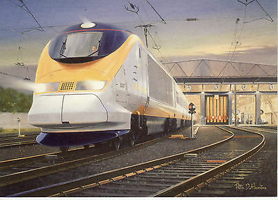 Class 373 Eurostar no. 3007 Waterloo Sunset Channel Tunnel  Art greeting card