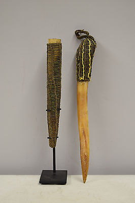 Papua New Guinea Cassowary Bone Ceremonial Payback Dagger Latmul Tribe