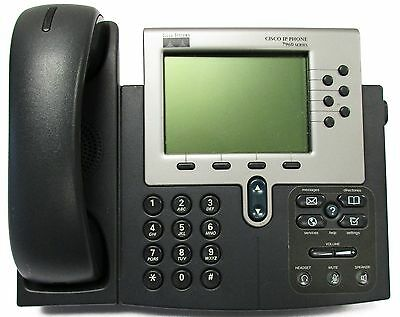 Lot of (10) Cisco CP-7960G 7960 Series VoIP Business Office Telephone w-Handsets