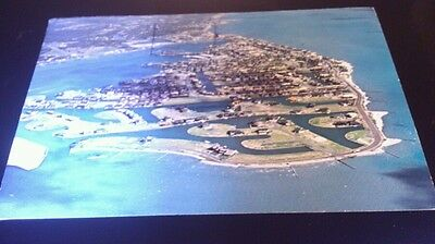 Texas postcard aerial view of key allegro rockport posted