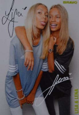 LISA & LENA - Autogrammkarte - Autogramm Fan Sammlung Clippings YouTube Star