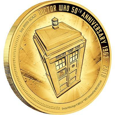 Very Rare Doctor Who 50Th Anniversary 2013 1 Oz Gold Proof Coin