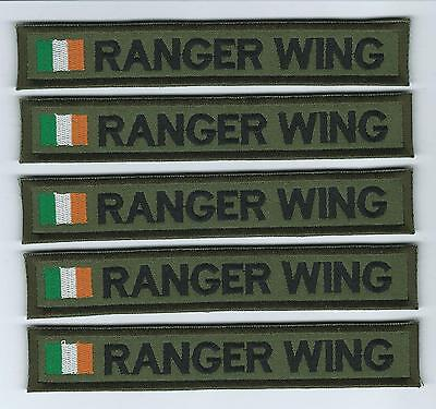 Irish Defence Forces X 5 Uniform Strips Name Tags Tapes Irish Defence Forces