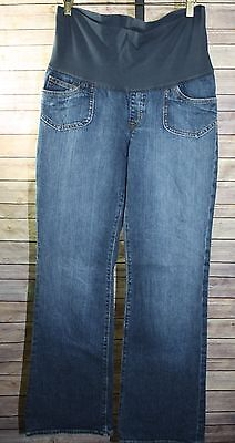 Gap Outlet gap stretch Maternity Jeans Bootcut Medium Wash Panel Size 4