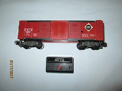 American Flyer #25042 Erie Operating Action Box Car w/Control Box. Excellent Min