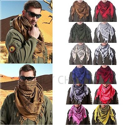 Mens Keffiyeh Shemagh Army Military Tactical Arab Desert Scarf Head Wrap