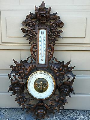 Beautiful Antique Black Forest Hunting  Barometer