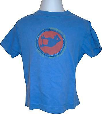 Used Boys Mini Boden Blue Faded T-Shirt Size 18 - 24 Months (V.F)