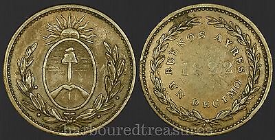 Argentina 1822 1 Decimo Buenos Aires - nice world coin