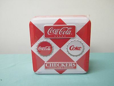 Coca Cola Checkers Collectors Edition Game New Sealed in Collectible Tin