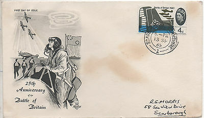 GB 1965 Battle Of Britain 25th Anniversary 4d First Day Covers