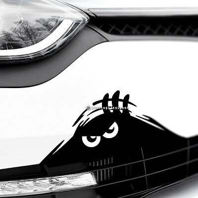 MONSTER WHITE EYES PEEPER Funny Car,Bumper,Window or Wall Vinyl Decal Sticker