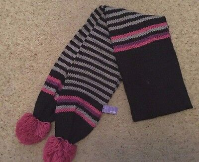 Girls Scarf With Bobbles From Claire's  Bnwt
