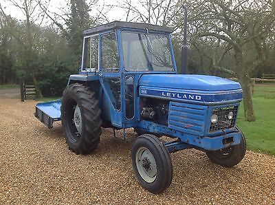 leyland tractor and grass cutter paddock maintenance