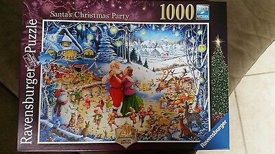 "Ravensburger ""Santa's Christmas Party""a 1000pc puzzle completed once from new."