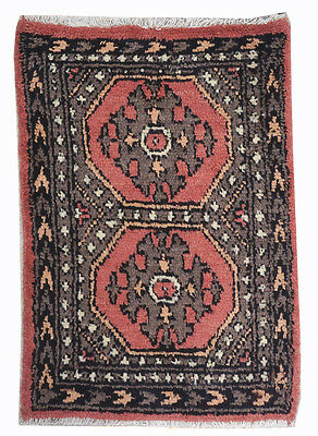 Hand Knotted Fine Jaldar Pak Persain Bokhara Rug 3x2 FT (246A)