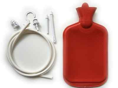 New Enema System Kit with Hot Water Bottle Douche Bag Tubing and Attachments UK