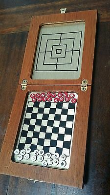 Vintage Magnetic Draughts Mini Board Game from Harrods Made In Italy.