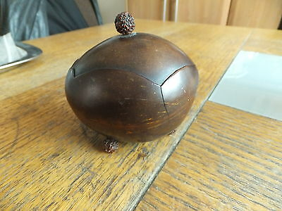 late Victorian coco nut made string holder