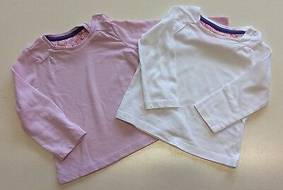 Girl's Mothercare Tops Pink White Age/Size 6-9 Months