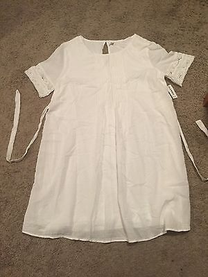 Old Navy Maternity White Dress - Size Small - NWT!!