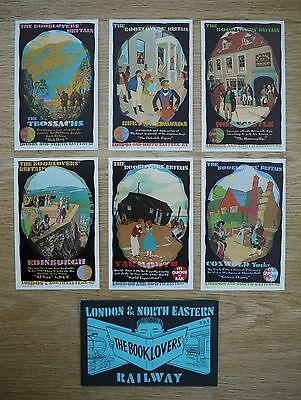Postcards - Lner Railway - The Booklovers Series X 6 Cards