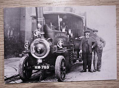 POSTCARD - FODEN HEAVY GOODS VEHICLE - POPLAR BOROUGH COUNCIL IN THE 1920's