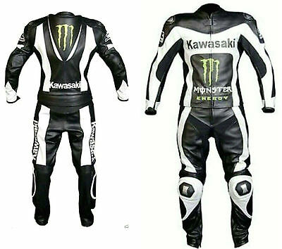 Kawasaki style Motorcycle Leather suits Mens Motorbike Leather suits Biker suits