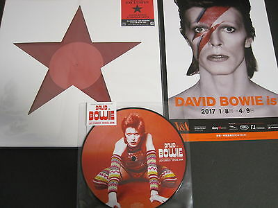 DAVID BOWIE JAPAN ONLY RED VINYL 12inch+PICTURE 7inch set