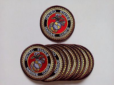 "10 US MARINE CORPS USMC Embroidered Patches 3"" Diameter"