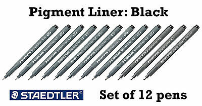 Staedtler Pigment liner Assorted 12 pen set