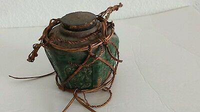 Antique ginger jar sealed with contents