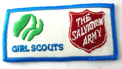 Patch Girl Scouts & The SALVATION ARMY, Service Good Turn NEW  Combine Ship