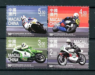 Macau Macao 2016 MNH Motorcycle Grand Prix 50th 4v Block Motorcycles Stamps