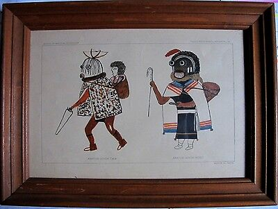 two Hopi Kachina lithographs from the , Bureau Of American Ethnology