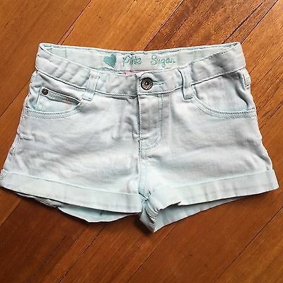 Pink Sugar Brand Shorts Mint Green Colour Girls Size 10 Stretchy