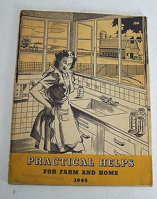 Vintage 1945 Practical Help for Farm & Home Booklet Hanover Lumber Yard Illinois