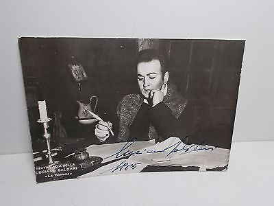 Authentic Signed  Photograph Luciano Saldari Tenor Opera Singer Signed 1965