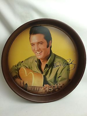 """Elvis Presley- Tin Metal Tray-13"""" Inches Round- by The Tin Box Co."""