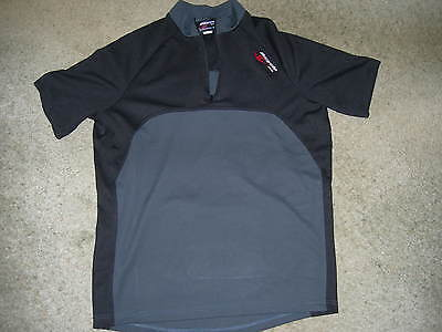 MANS CYCLING TOP ~ BICYCLE LINE ~ Medium ~ Black Grey ~ T Shirt
