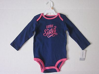 New $12.00 CARTER'S Quality Cute Little Sister Bodysuit - Size: 12 Months