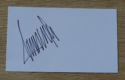 Donald Trump - President Elect - Autographed 3'' X 5'' White Card
