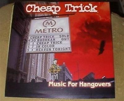 """CHEAP TRICK Music For Hangovers 12x12"""" Poster 2 sided"""