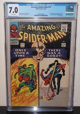 AMAZING SPIDER-MAN #37 CGC 7.0 WHITE PAGES! 1st APP NORMAN OSBORN 1966