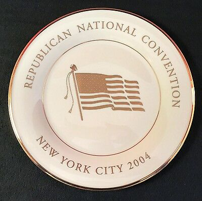 LENOX - Republican National Convention 2004 Spouses Luncheon Plate - NEW YORK