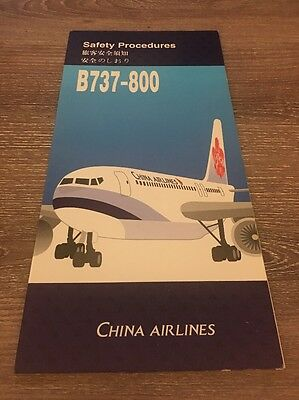 China Airlines Boeing 737-800 Taiwan Safety Card