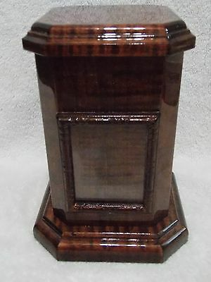 Handmade Curly Tiger Maple Wood Wooden Dog Cat Pet Cremation Urn Mahogany Stain