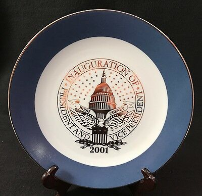 Presidential Inauguration Plate  Bush - Cheney 2001